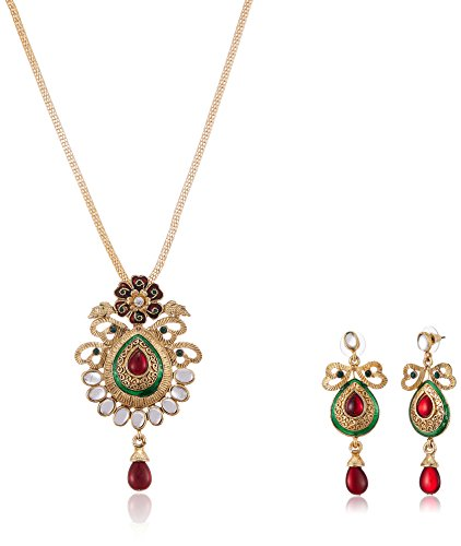 Fabby Fashion Jewellery Set for Women (Purple and White)(94863)