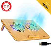 Oferta en KLIM Bamboo - Base refrigerante para portátil  y ventilador USB