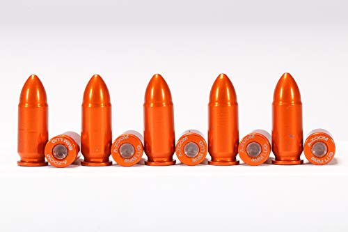 A-ZOOM 9MM Luger SNAP Cap, Orange, ()