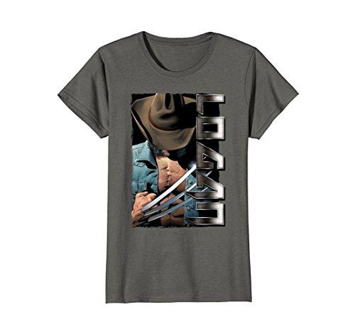 Womens Marvel X-Men Wolverine Old Man Logan Profile Graphic T-Shirt Medium Asphalt