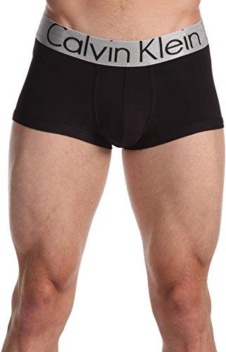 (Calvin Klein Underwear Men's Steel Micro Low Rise Trunk U2716 Black)