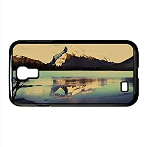 Frozen Mountain Lake Watercolor style Cover Samsung Galaxy S4 I9500 Case (Mountains Watercolor style Cover Samsung Galaxy S4 I9500 Case)