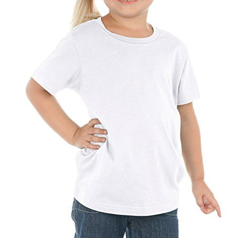 Price comparison product image Kavio! Toddlers Crew Neck Short Sleeve Tee Jersey, White, 5T