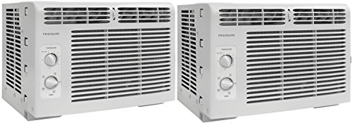 Frigidaire FFRA0511R1 5, 000 BTU 115V Window-Mounted Mini-Compact Air Conditioner with Mechanical...