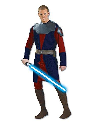 Rubie's Costume Co Men's Star Clone Wars Deluxe Anakin Skywalker Costume, Multicolor, Standard ()