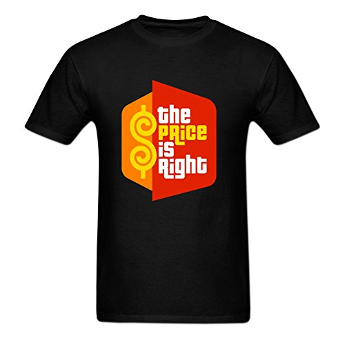 Design ByHunams the Price is Right TV Game Show (2) Men's 100% Cotton T-Shirt S Black