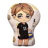 AMOLEY Pkiooi Anime Haikyuu!! Plush Pillow Decoration, Soft Throw Pillow for Sofa/Car/Bedroom, Haikyuu Gift for Fans 35cm(Miya Osamu)