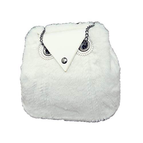 Daqao adorabili mano a Casual per bianco Borsa a spalla donna Bianco da Fatti a piccola da peluche Gufi donna Borse tracolla Borse donna v0NnOywm8