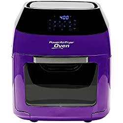 Power AirFryer Oven With 7 in 1 Cooking Features with Professional Dehydrator and Rotisserie (8 QT, Purple)
