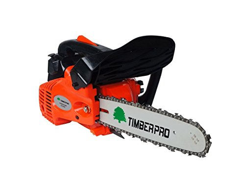 TIMBERPRO 26cc 10'' Petrol Top Handle Topping Chainsaw with 2 Chain Saw Chains & Carry Bag by TIMBERPRO