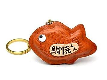 Amazon.com: Fish Shaped Pancake 3d llavero de piel (L) vanca ...
