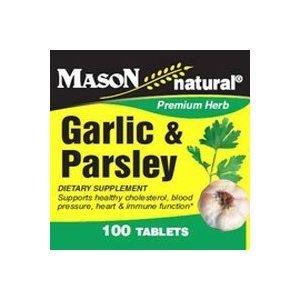 (Mason Natural Garlic and Parsley Dietary Supplement Tablets - 100 Ea by Mason Vitamins )