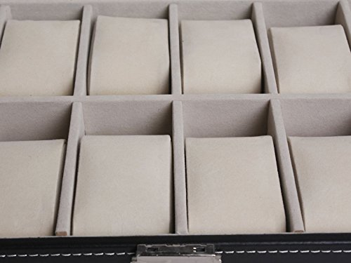 Generic NV_1008002946_YC-US2 nizer Wa Case Box Slots play 10 Grids Jewelry Box S Leather Storage Leath Watch Display orage Holder Organizer 10 Grid by Generic