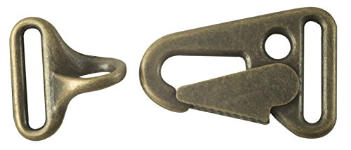 Latch Hook Clasp Closure in Antique Brass Finish