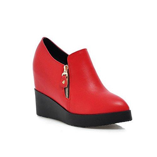 Balamasa Jenter Solid Glidelås Imitert Skinn Pumper-sko Røde