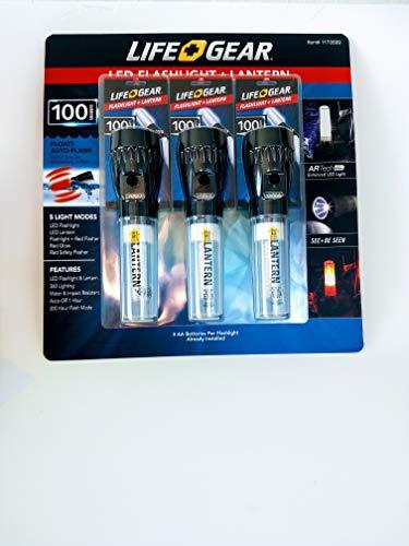 Life Gear LED Flashlight + Lantern 3 Pack 100 Lumens
