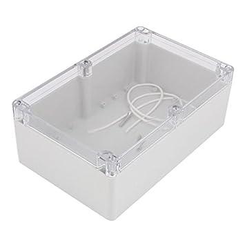 DealMux 230mmx150mmx85mm Transparente DIY fio eletrônico Box Projeto Cable