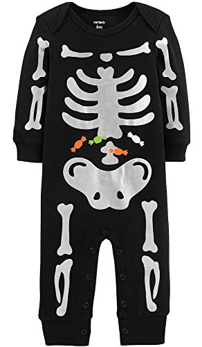 Carter's Baby Boys' Halloween Skeleton Jumpsuit (12 Months)