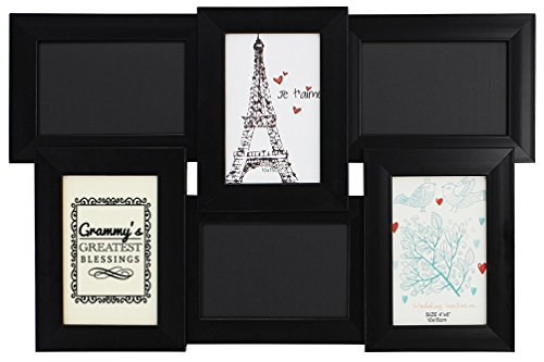 ThisWear Grammy's Greatest Blessings Chalkboard Picture Frame Black Wood 6-Panel 4x6 Photo Frame ()