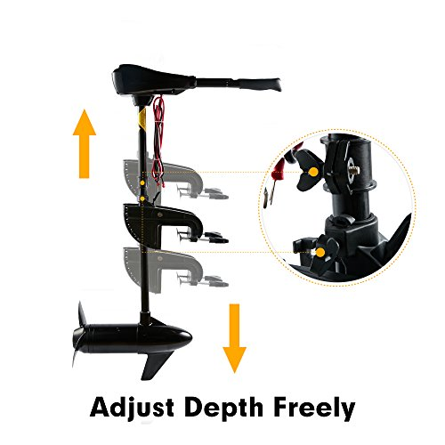 Cloud Mountain 55LBS Thrust Electric Trolling Motor for Fishing Boats Freshwater and Saltwater Use