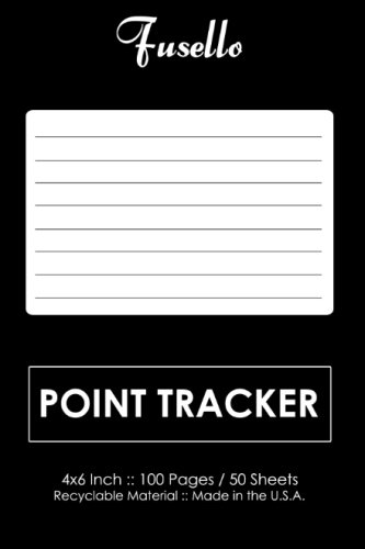 Point Tracker: 4x6 Pocket Point Tracker - Perfect For Weight Watchers (Weight Watchers Tracker)