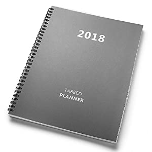 "Shiplies 2018 Daily, Weekly and Monthly Planner Academic Planner for Men, Teachers and Student 8.5"" x 11""- Gray"