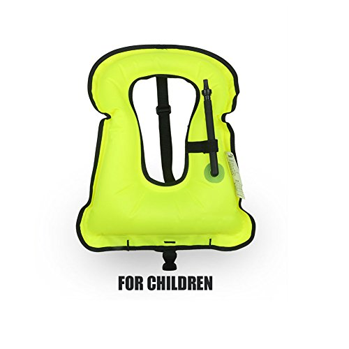 Rrtizan Children Portable Inflatable Life Jacket Snorkel Vest,Swimming Life Vest for Boys & Girls ()