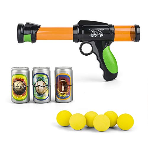 The Great Fun Foam Ball Shooter with Six EVA Soft Foam Balls, Plastic Air Power Popper Shooting Toy Gun Pump Action Blaster for Kids (Small)