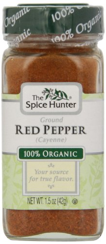 Spice Hunter Spices, Organic Ground Red Pepper (Cayenne), 1.5 Ounce (Pack of 6)