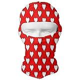 Balaclava Red Polka Heart Dot Full Face Masks Ski Headwear Motorcycle Hood for Cycling Sports Mountaineering