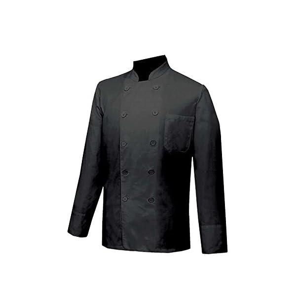 MISEMIYA Chaquetas Chef Cocineros Mangas Largas Camisa de utilidades de Trabajo para Hombre 4