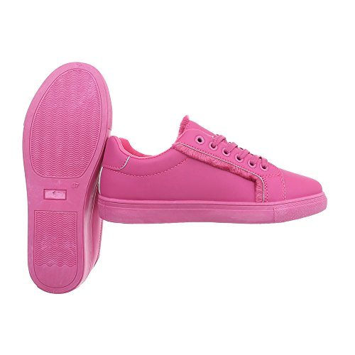 Chaussures Pointure Baskets Rose 37 design Low Plat Sneakers Ital Espadrilles Mode Femme Rw7x51nnqZ