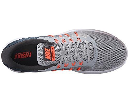 Nike LUNARSTELOS - Runningschuhe für herren, Grau (wolf grey/total crimson-anthracite-white), 40