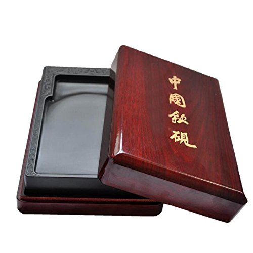 歙 Bluestone Yanmen Zi Yan Students Calligraphy Supplies Yantai Tourist Attractions Natural Inkstone Calligraphy Tools Gifts Yan Wenfang Four Treasures by GHGJU