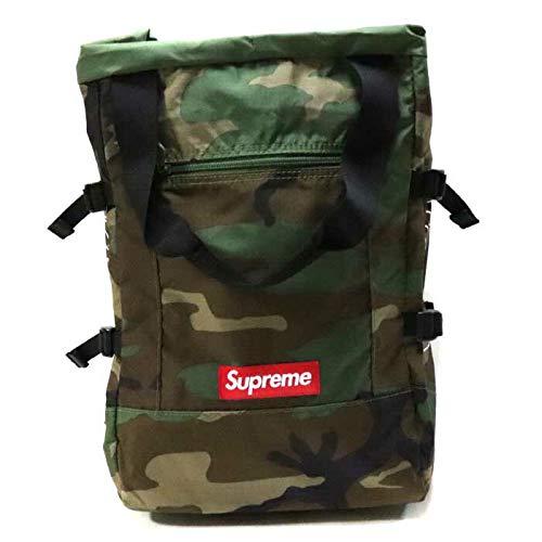 Supreme/シュプリーム Tote Backpack/トートバックパック Woodland Camo/ウッドランド カモ 迷彩 2019SS 国内正規品   B07RH7QD66
