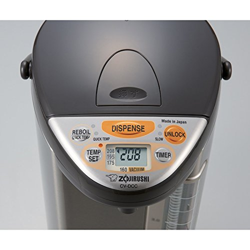 Zojirushi 586361-CV-DCC40XT America Corporation Ve Hybrid Water Boiler And Warmer, 4-Liter, Stainless Dark Brown Includes Milk Frother and Two Mugs with Spoons by Zojirushi (Image #2)