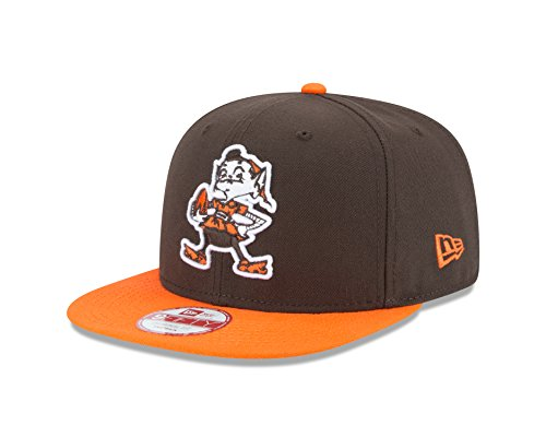 New Era NFL Historic Baycik Snap 9FIFTY Original Fit Cap, Brown/Orange, One Size (Cap Cleveland Browns)