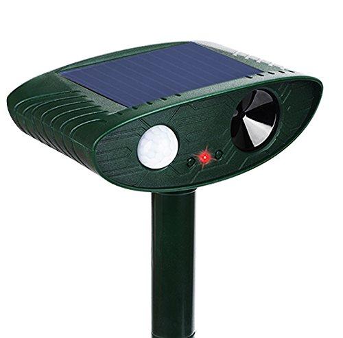 動物撃退器 Flinelife 猫よけ ソーラー充電式 超音波 害獣対策 野生動物対策器