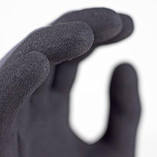 g & F Endurancepro Seamless Knit nylon guanti con micro Foam nitrile grip rivestito, da uomo, M, colore: Nero, 1529S-3
