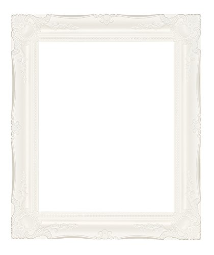 LARGE WHITE Shabby Chic Antique Style Rectangular Wall MIRROR complete with Premium Quality Pilkington's Glass - Overall Size: 24 inches x 34 inches (60cm x 85cm) Frames By Post Ltd