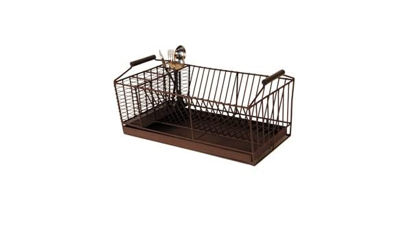 Antic Line escurreplatos de los platos de drenaje escurridor con cuatro cubiertos de compartimentos: Amazon.es: Hogar