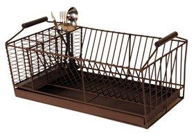 Antic Line escurreplatos de los platos de drenaje escurridor con cuatro cubiertos de compartimentos