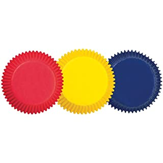 Wilton 415-987 BAKECUPS ASST 75CT, STD, Assorted Primary Colors