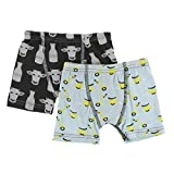 Kickee Pants Little Boys Boxer Briefs Set - Zebra Tuscan Cow and Spring Sky Scooter, Medium