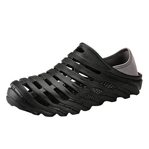 Men's Waterproof Beach Sandals Elastic Heel Leisure Hollow Outdoor Casual Shoes -