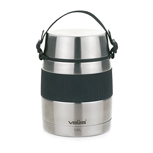 Valira VAN6615 Inoxterm - Termo para solidos con 2 contenedores interiores, Gris, 1 L