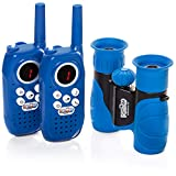 Playco Walkie Talkies and Binoculars for Kids - 2 Mile Range, Crystal Clear Sound, 8X21 Optical Lens