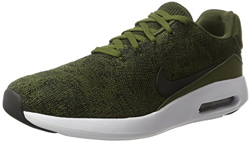 Nike Men's Air Max Modern Flyknit Running Shoe, Rough Green/Black-Black/White, 9.5 (Mens Nike Air Max Modern Flyknit Running Shoes)