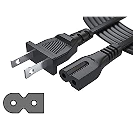 Pwr Extra Long 12 Ft 2 Prong Polarized-Power-Cord for Vizio-LED-TV Smart-HDTV E-M-Series and Others 2 Slot Adapter-AC…