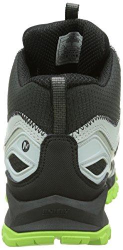Merrell Capra Bolt Mid Gtx - Botas de senderismo Hombre Negro - Noir (Black/Silver)